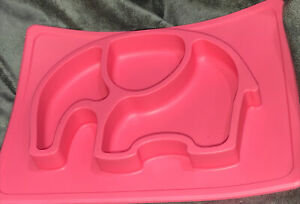 Nuby Sure Grip Elephant Silicone Sectioned Feeding Placemat Stay Put Food Tray