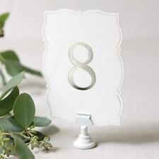 Ornate Silver Foil Table Numbers 1-25