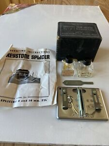 Vintage Keystone Film Splicer For 8 And 16 MM Film with org. manuels