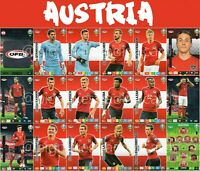 PANINI ADRENALYN XL UEFA EURO 2020 AUSTRIA FULL 18 CARD TEAM SET - EUROS
