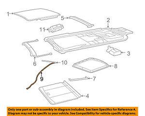 VW VOLKSWAGEN OEM 09-14 Routan Sunroof-Drain Hose Right 7B0877232A