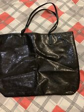 macys black tote bag sparkle