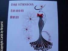 Personalised Handmade Fashion Birthday - Mum, Aunt, Sister, Friend, Grandma