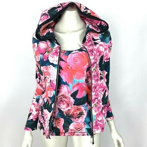 Lululemon Hold Your Om Secret Garden Floral Hoodie Jacket with Tank Top Women 2