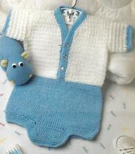 *Little Boy Blue Baby Outfit crochet PATTERN INSTRUCTIONS
