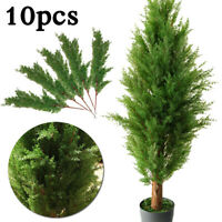 10pcs Artificial Pine Needle Garland Fake Leaf Plant Pine Branches Home Decor US