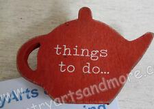 Gisela Graham, Zettelhalter mit Clip * things to do ... * Holz rot, Memo, Notiz