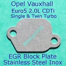 EGR Blank Plate Opel Vauxhall 2.0 CDTi Euro 5 Astra J, Insignia Zafira Tourer C