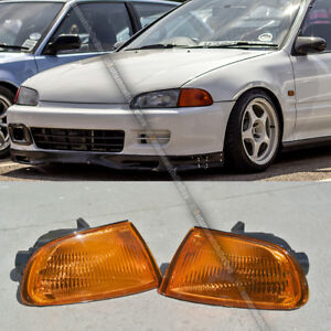 FIT 92-95 HONDA CIVIC 2/3DR COUPE HATCHBACK AMBER CORNER LIGHT EG6