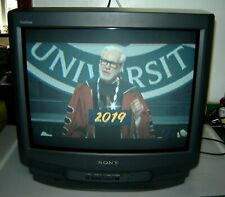 "Sony KV-20M20 20"" 480i CRT Television Black - Color TV  Trinitron 1996 W/remote"