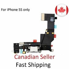 New iPhone 5S Audio Dock Connector Charging USB Data Port Flex Cable White