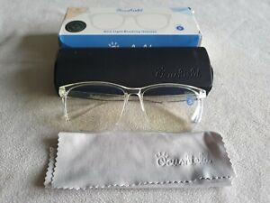 Ocushield blue light blocking clear glasses. Parker.