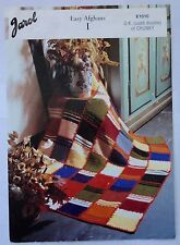 Jarol E1010 -  vintage home furnishings  knitting pattern - Easy Afghans