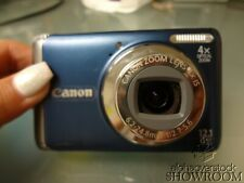 Used & Untested - Canon* PowerShot A3100 IS (Blue) For Parts Or Repairs Only
