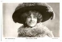 Antik RPPC Postkarte Miss Ellaline Terriss Schauspielerin Singer Stage Theatre