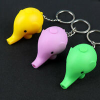 Cute Elephant Animal LED Key Ring Key Chain Key Pendant Mini Flashlight Kids Toy