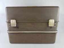 Vintage Umco 530 Bw Fishing Tackle Box Huge Possum Belly Brown Grain