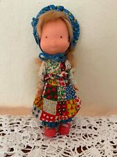 "Vintage 1975 Knickerbocker Holly Hobbie Vinyl Doll 6"" Red Shoes"