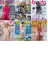 Burda Style Magazine SIX MAGAZINES NEW  in russian 1-6 / 2018