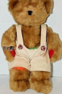 "Ross the Bear Plush 15"" by Russ Berrie Juvenile Diabetes Cord Overalls Bracelet"