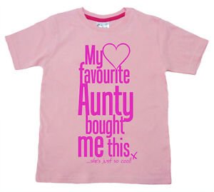 "Dirty Fingers Girl T-Shirt ""My Favourite Aunty bought me this She's Cool"" Niece"