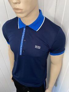HUGO BOSS PAULE 4 POLO SHIRT MENS NAVY/BLUE XLARGE £49.99 BNWT