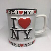 I Love (heart) New York Vintage Coffee Cup Mug Raised 3D