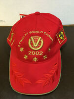 MICHAEL SCHUMACHER 2002 5 TIME WORLD CHAMPION HAT BRAND NEW WITH TAGS ULTRA RARE
