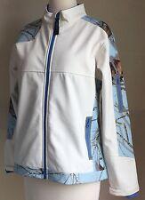 Yukon Gear Womens Jacket Windproof Softshell White Sky Blue Mossy Oak Camo Sz M