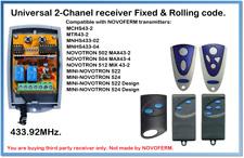 NOVOFERM Compatible Universal 2-Channel receiver 12-24V AC/DC 433.92MHz.