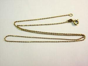 Vintage 9ct GOLD 18 inch long OVAL LINK NECKLACE, CHAIN!