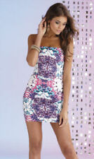 Lipsy Peplum Printed Mantra Dress Cream / Multi BNWT - Size 14