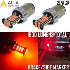 Alla Lighting 30-LED 97 Brake/Stop Light Bulb,Side Marker,Parking Bright Red, 2x