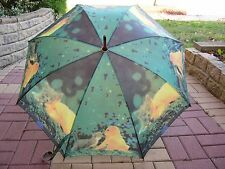 Cat and Dog Woodhandle Art Umbrella