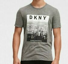 NWT - DKNY Men's BIG APPLE LOGO TEE HEATHER Gray GRAPHIC S/S T-SHIRT  -  M