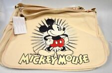 Disney Mickey Mouse Laptop Computer/Messenger Canvas Shoulder Bag - Tan
