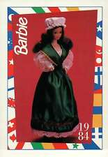 "Barbie Collectible Trading Fashion Card  "" Irish Barbie "" 1984, Ireland"