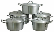 5 Piece Cooking Set with Solid Steel Handles