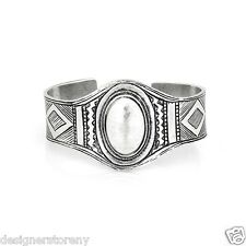 Low Luv Erin Wasson Silver Plated Afghani engraved cuff bangle bracelet