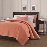 Pinsonic Quilted Austin Oversize Bedspread Coverlet  3-piece Queen Set, Salmon