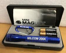 Mini Maglite w/ Ring Clip in Case Milcom 2004 Advertising Promo