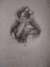 Lithographie Litho Portrait de Marie Amélie Reine des Français