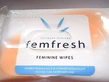 Femfresh Feminine Wipes 15'S. Intimate Hygene.Sameday Dispatch by 1st class post