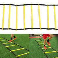 12 Rung Speed Training Ladder Agility Footwork Football Exercise Workout New