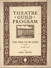 1932 Too Good To Be True Guild Theatre Program Beatrice Lillie Claude Rains