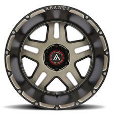 "17x9 Asanti Offroad Wheels AB809 Black Tint  Rims 33"" Tires Fits Silverado GMC"