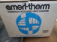"""New Ameritherm AMERI-THERM Thermally Actuated Vent Hood Damper T800, 8"""" Size"""
