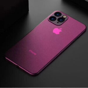 Case For iPhone 13 12 11 Pro Max X XR 8 7 Ultra Thin Slim 0.2mm Matte Hard Cover