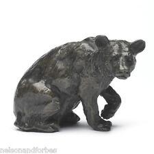 Solid Bronze Bear Sculpture Listening Bear by Sue Maclaurin