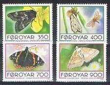 Faeroer/Faroer postfris 1993 MNH 252-255 - Vlinders / Butterflies